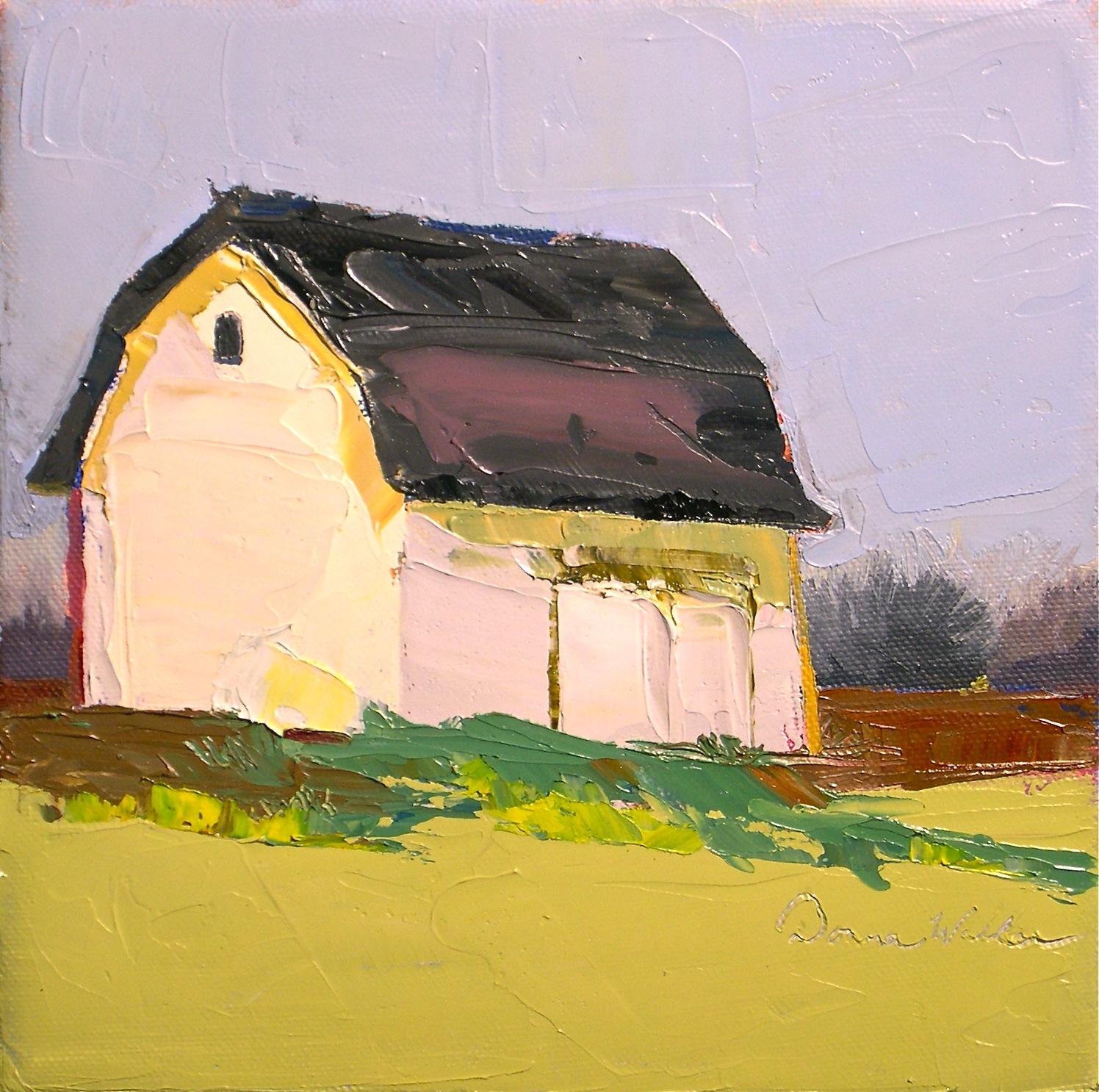 """""""White Barn"""" original fine art by Donna Walker"""
