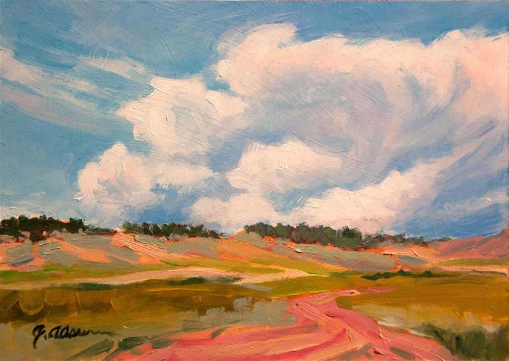 """Gathering Over Namaqua Ridge"" original fine art by Gary Alsum"