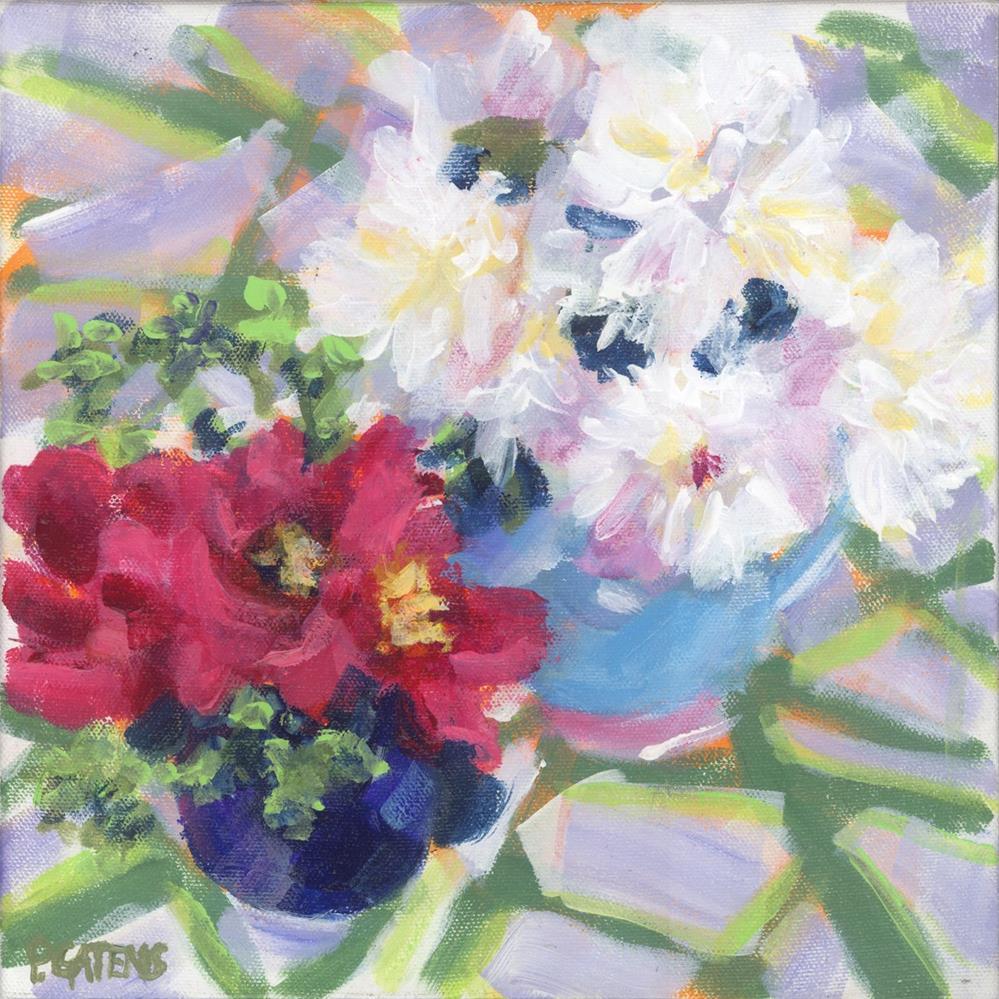 """Petite Peonies"" original fine art by Pamela Gatens"