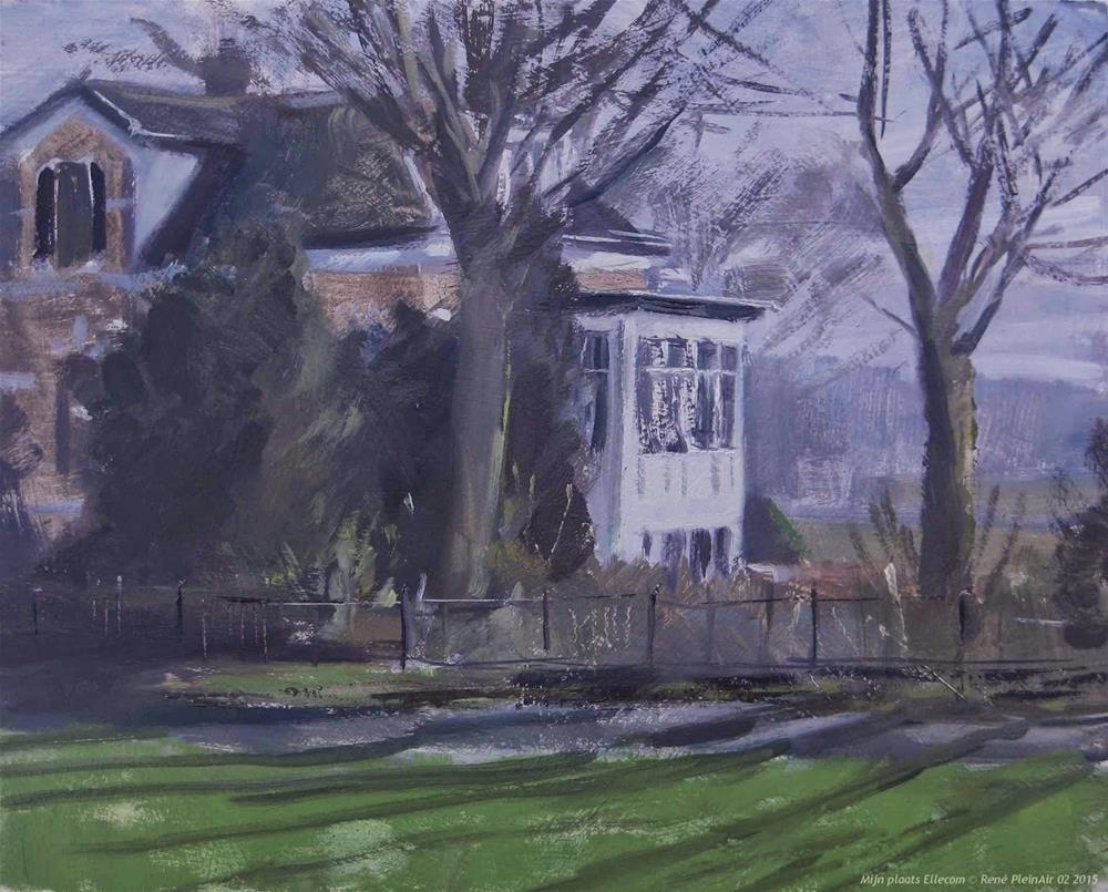 """""""My place. Ellecom The Netherlands"""" original fine art by René PleinAir"""