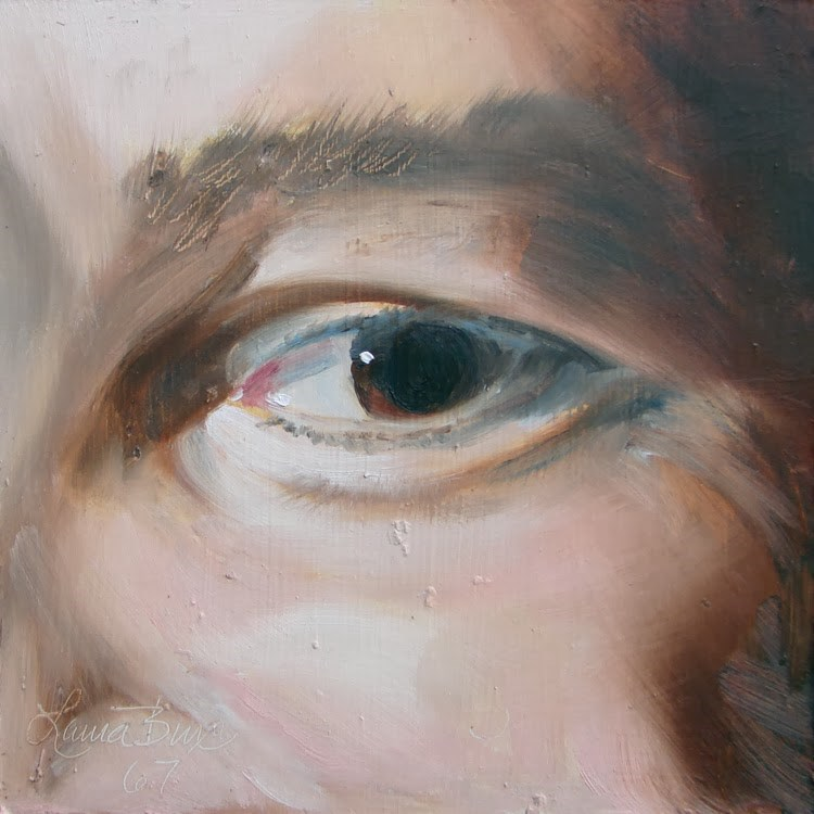 """Window to the Soul - 67"" original fine art by Laura  Buxo"