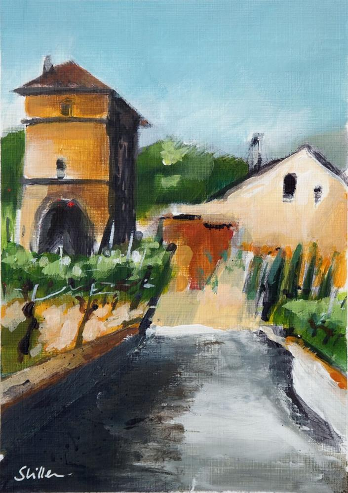 """2110 Winery Tower in Acrylics"" original fine art by Dietmar Stiller"