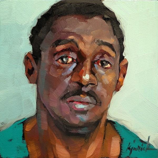 """200 Faces, No. 122"" original fine art by Karin Jurick"