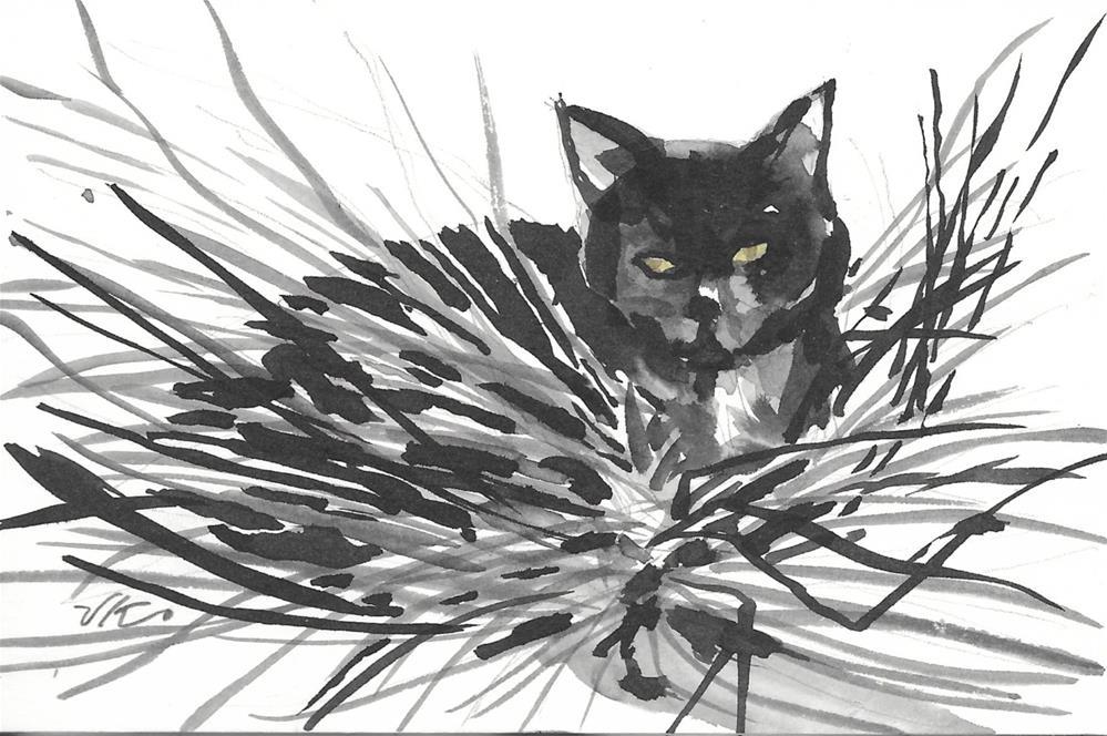 """Daily Cat 55"" original fine art by Jean Krueger"