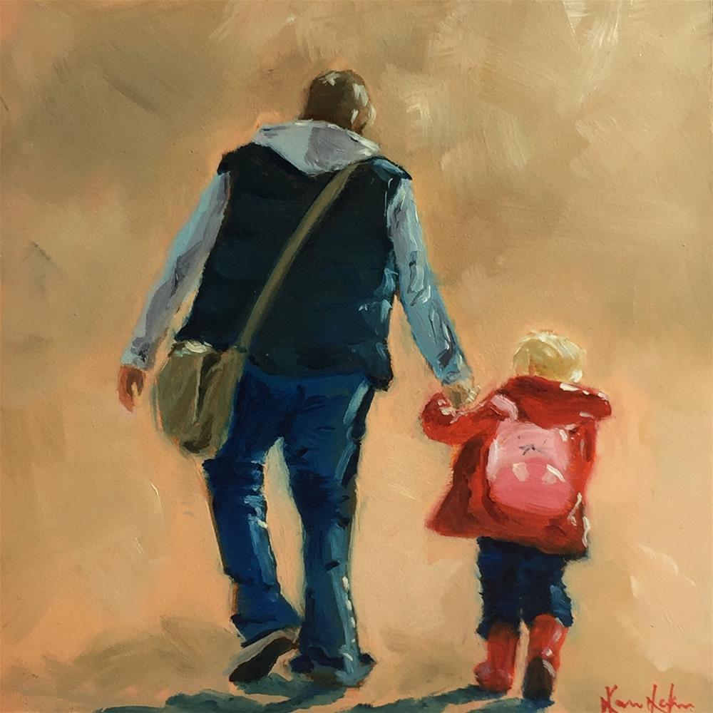 """Red Wellies"" original fine art by Karen Laken"