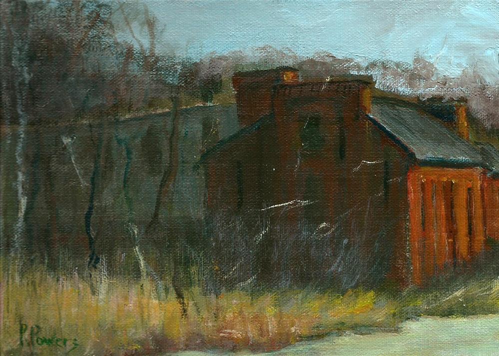 """Abandoned Factory"" original fine art by Patricia J. Powers"