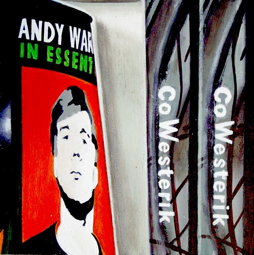 """""""Andy & Co- Still Life Painting Of Books On Andy Warhol And Co Westerik"""" original fine art by Gerard Boersma"""