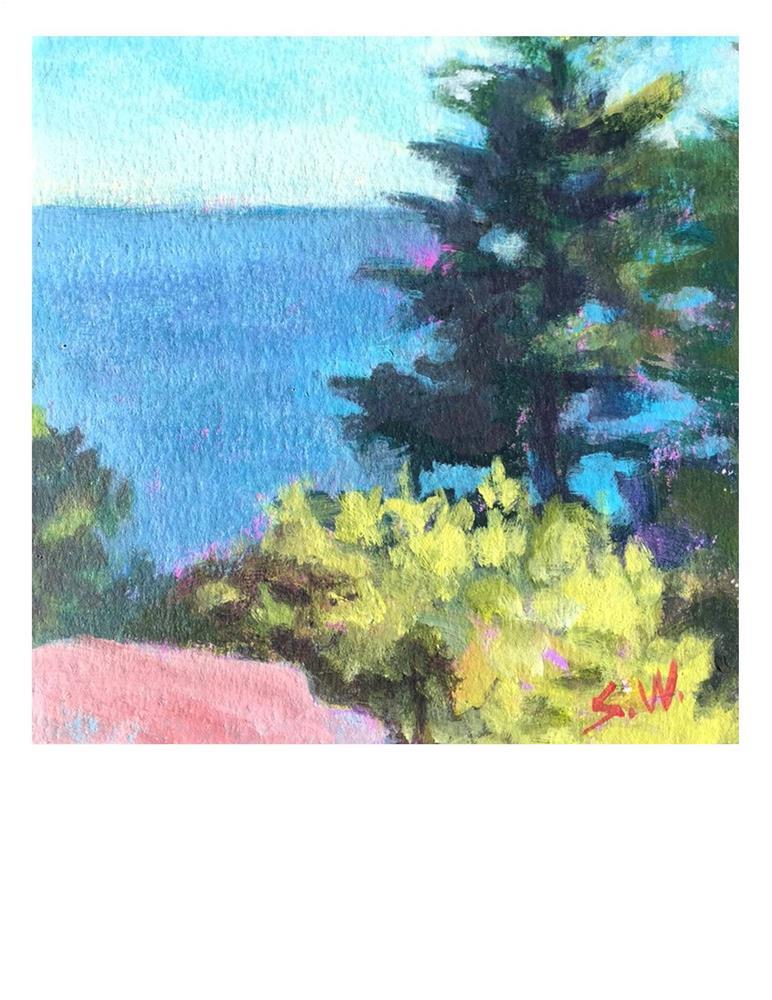 """Cliff View"" original fine art by Suzanne Woodward"