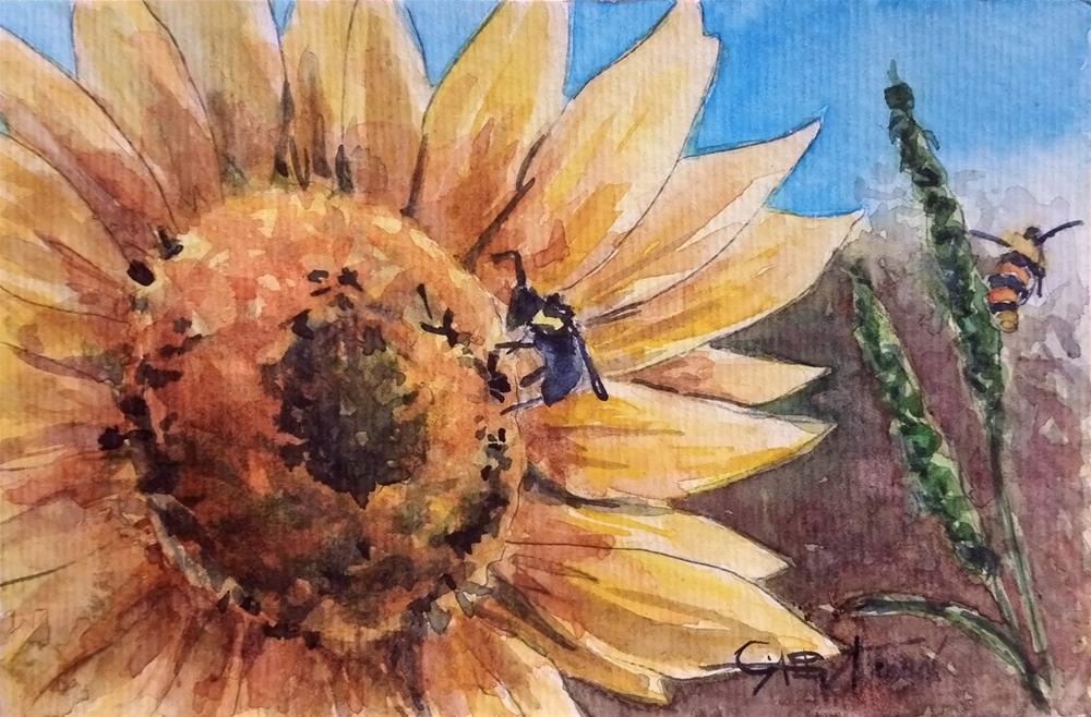 """Sunflower"" original fine art by Gabriella DeLamater"