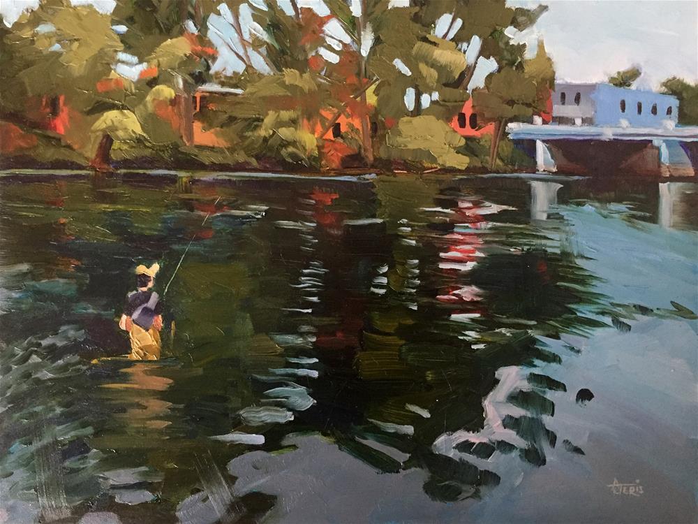 """Fish the River"" original fine art by Andrea Jeris"