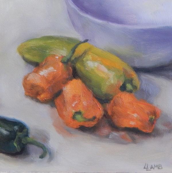 """""""Peppers"""" original fine art by Lori L. Lamb"""