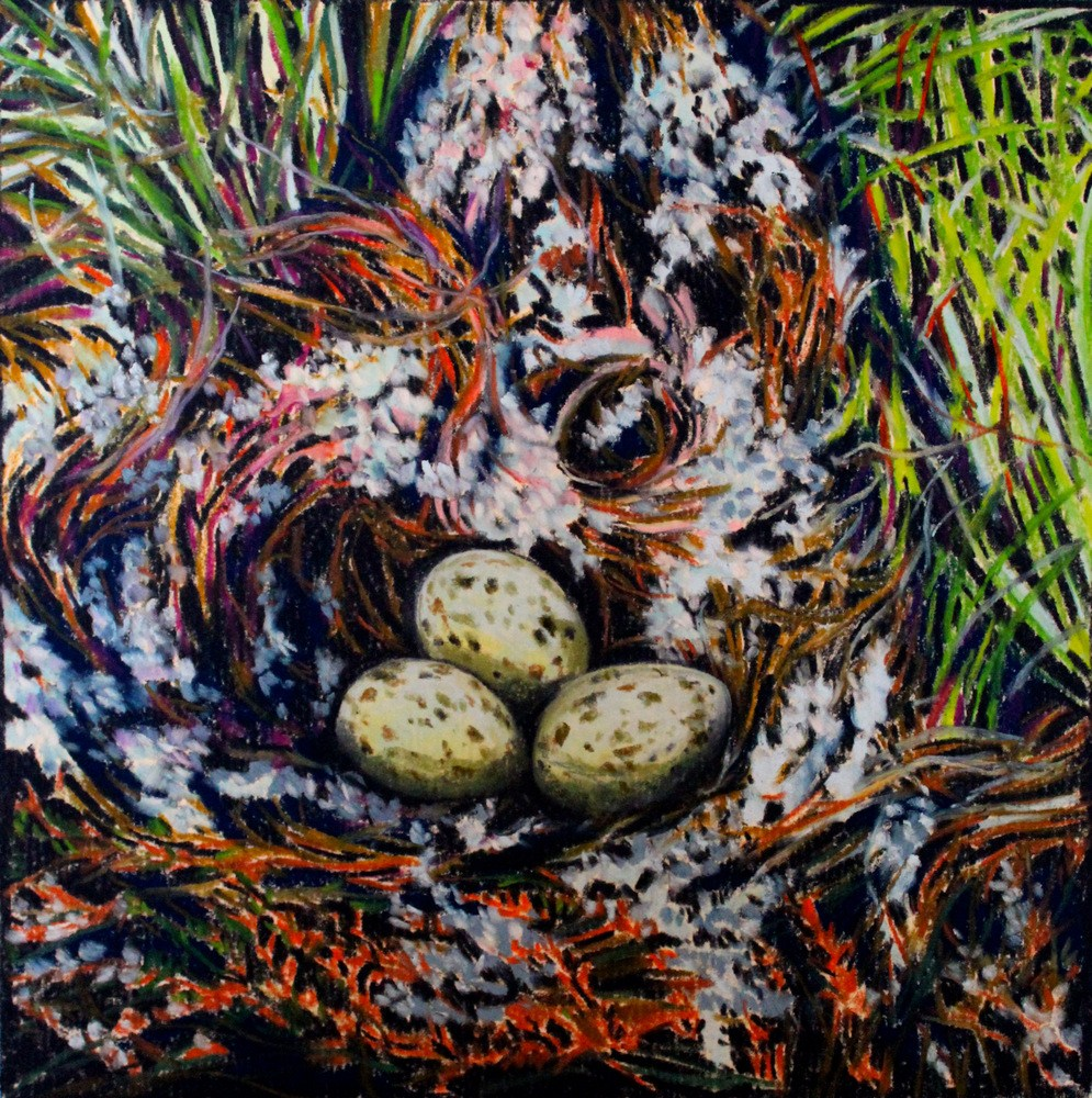 """The Gull's Nest"" original fine art by Jill Bates"