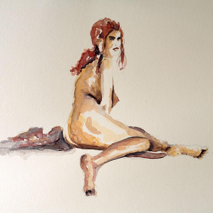 """""""0608 Nude Character - Aktzeichen XY"""" original fine art by Dietmar Stiller"""