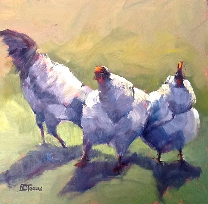 """""""Bottoms Up"""" original fine art by Mo Teeuw"""