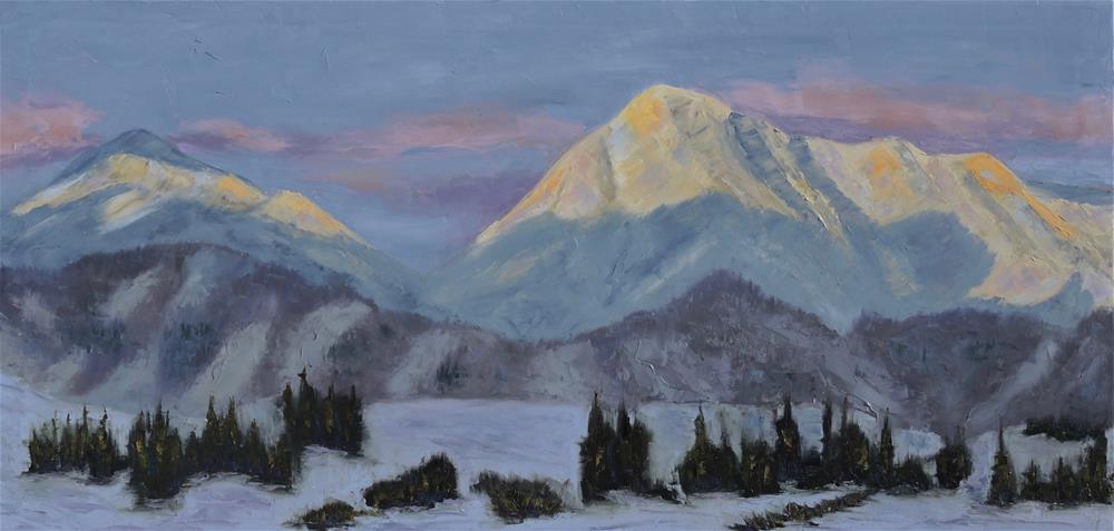 """""""Alpenglow"""" original fine art by Linda mooney"""