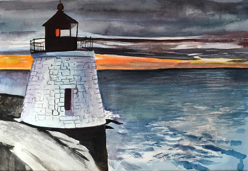 """""""Sunset"""" original fine art by Bunny Griffeth"""