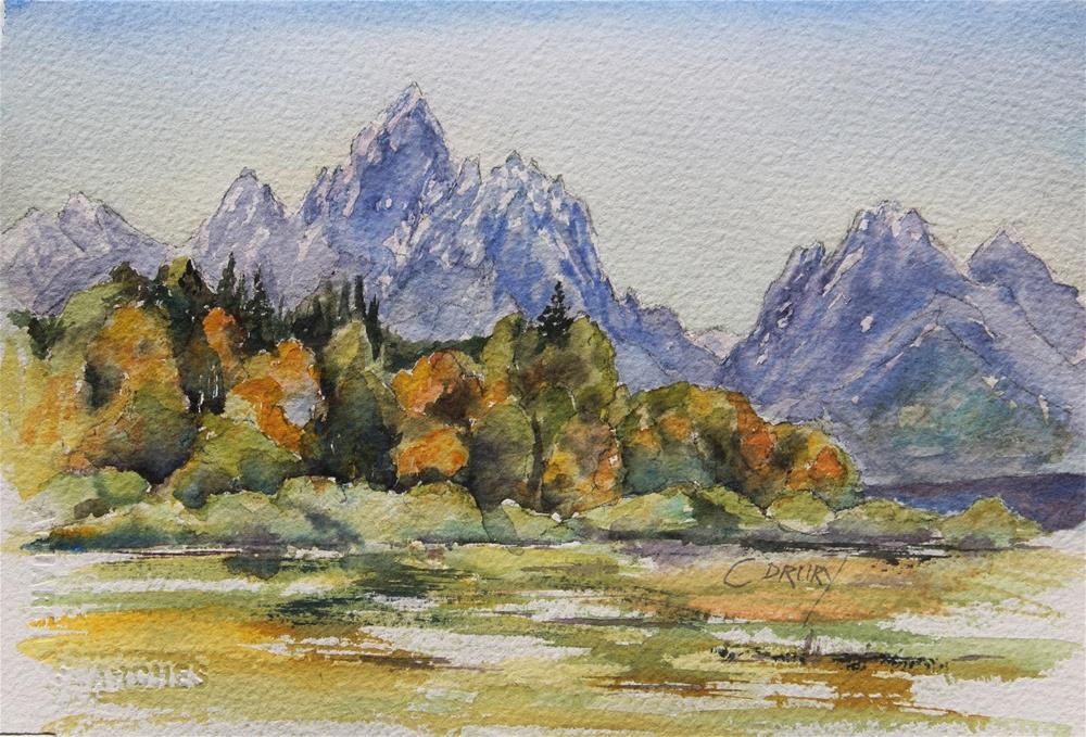 """""""Fall in the Tetons"""" original fine art by Colleen Drury"""