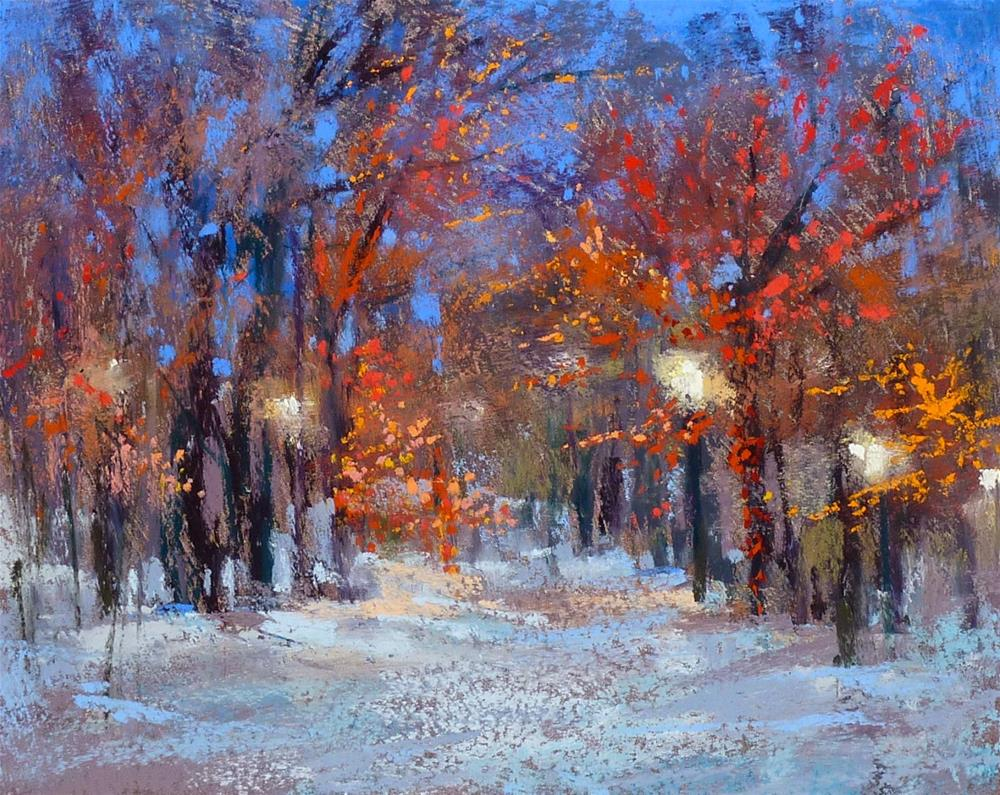 """""""How to Paint Christmas Lights with Pastels"""" original fine art by Karen Margulis"""