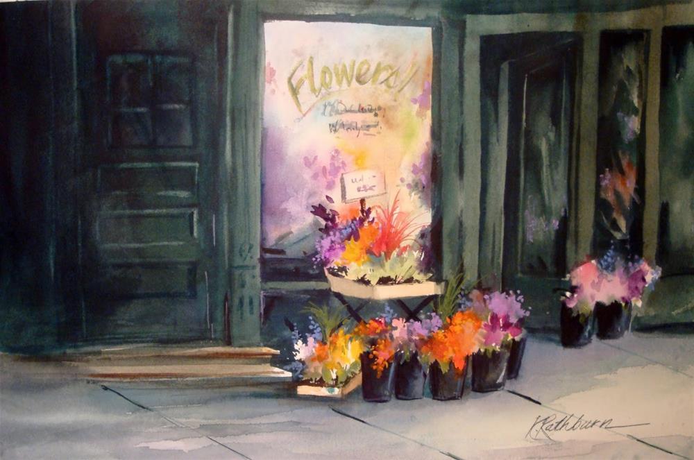 """The Flower Shop - Chicago"" original fine art by Kathy Los-Rathburn"