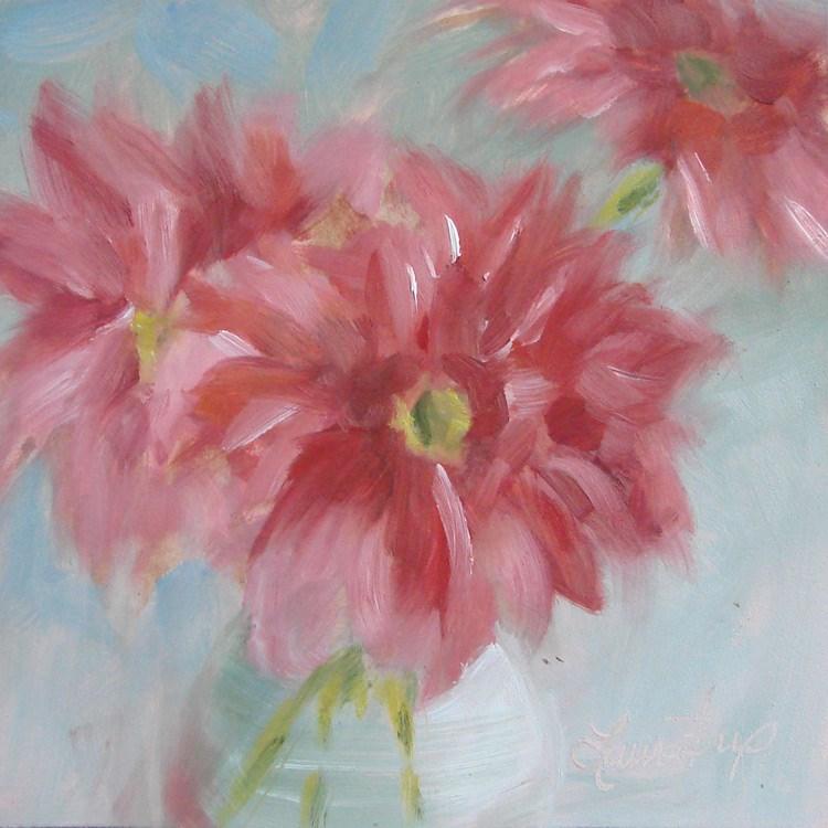 """""""Pink - 391"""" original fine art by Laura  Buxo"""