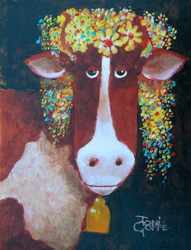 """Summer Headdress"" original fine art by Toni Goffe"
