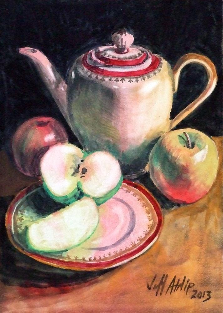 """Pitcher with Apples"" original fine art by Jeff Atnip"