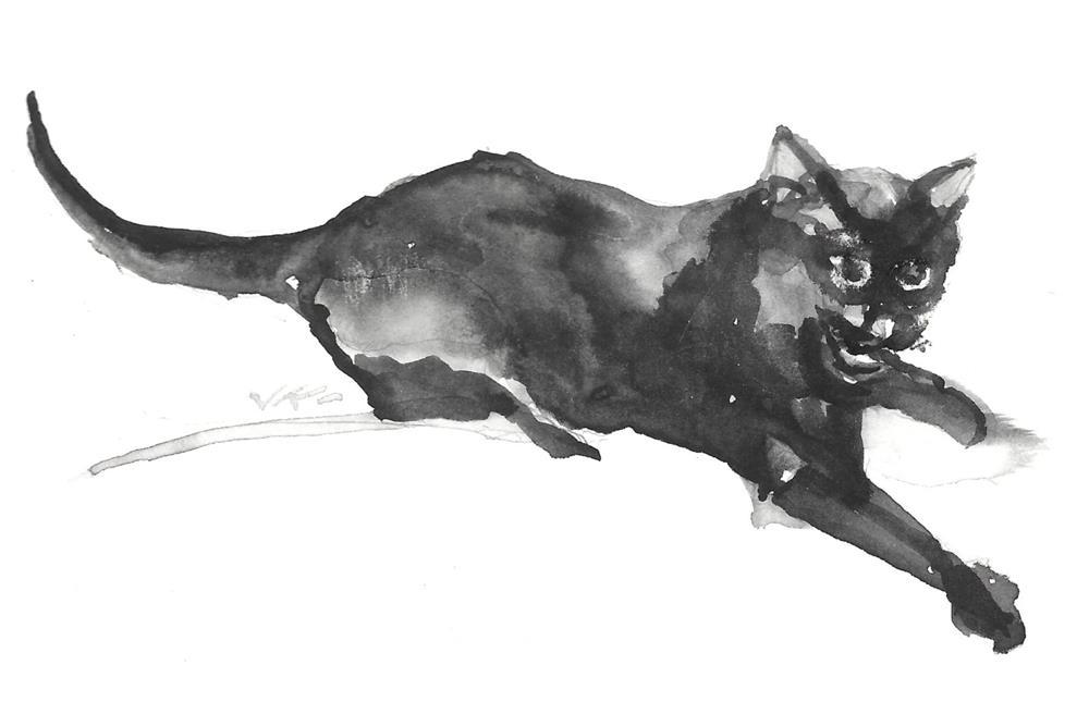 """Daily Cat 194"" original fine art by Jean Krueger"