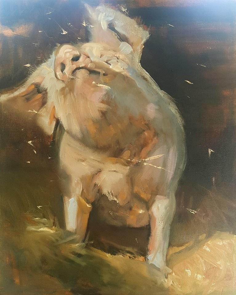 """Shake your bootee"" original fine art by Rentia Coetzee"