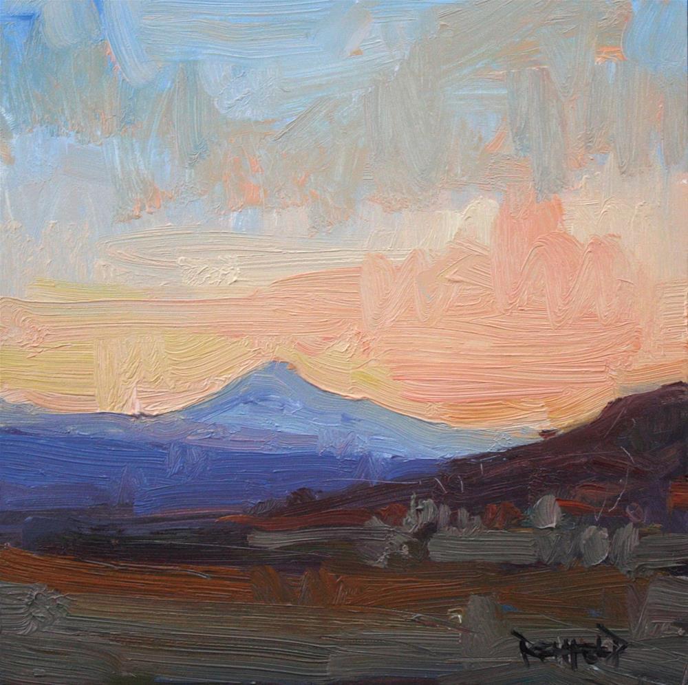 """Mt Hood From Maryhill Museum"" original fine art by Cathleen Rehfeld"