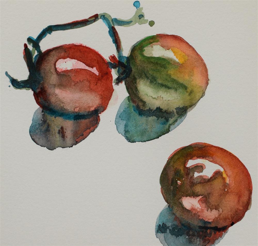 """""""Heirloom Tomatoes"""" original fine art by Nancy Brown"""