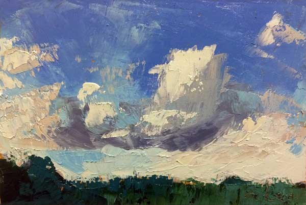 """""""Incoming Clouds"""" original fine art by Mary Gilkerson"""