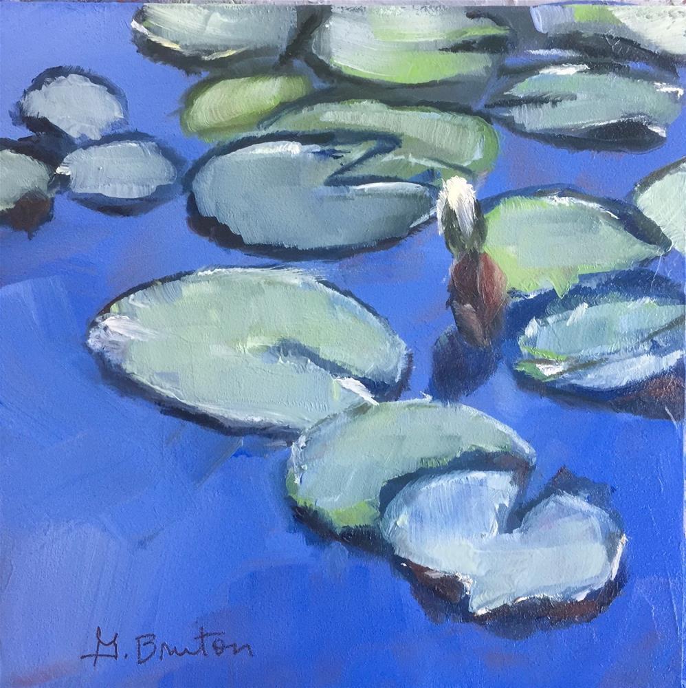 """Lily Pads"" original fine art by Gary Bruton"