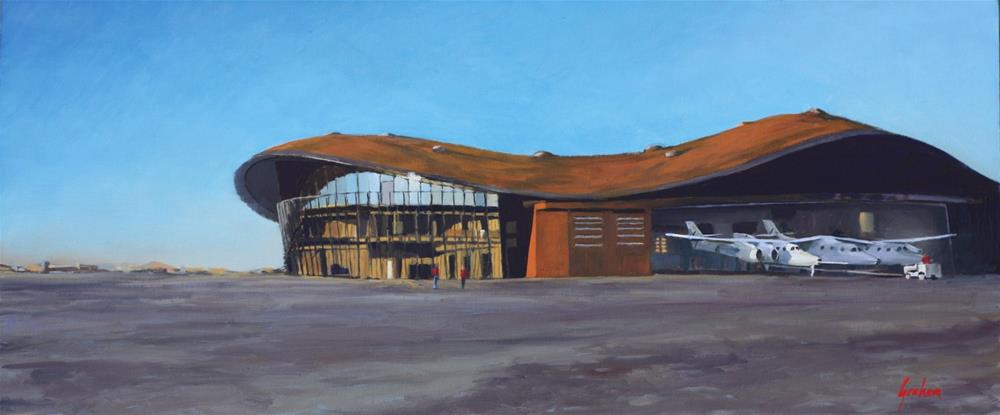 """""""Spaceport America – To Boldly Go"""" original fine art by Graham Townsend"""