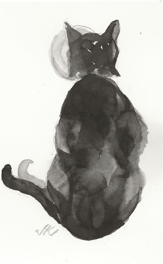 """Daily Cat 81"" original fine art by Jean Krueger"