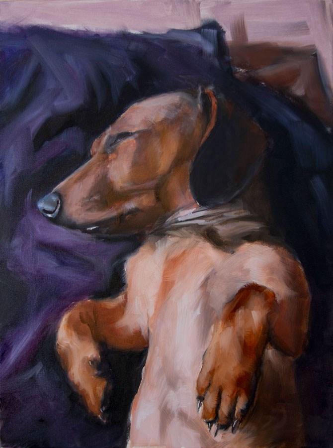 """Purple Haze"" original fine art by Clair Hartmann"