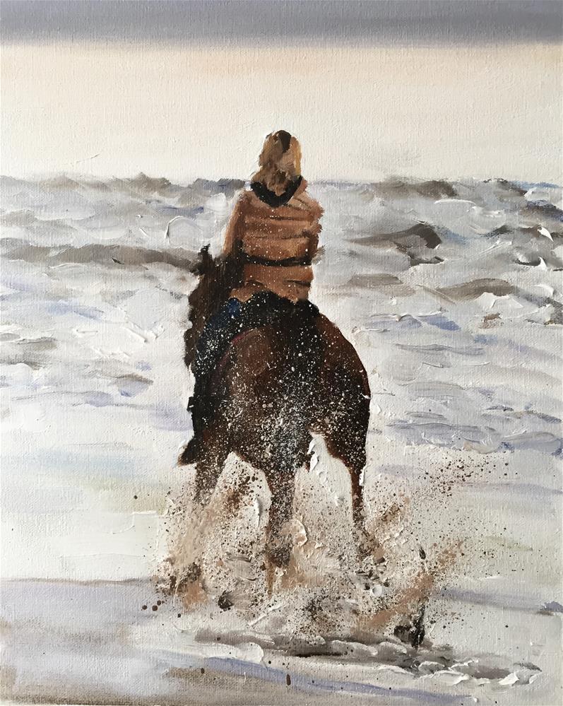 """Beach Rider"" original fine art by James Coates"