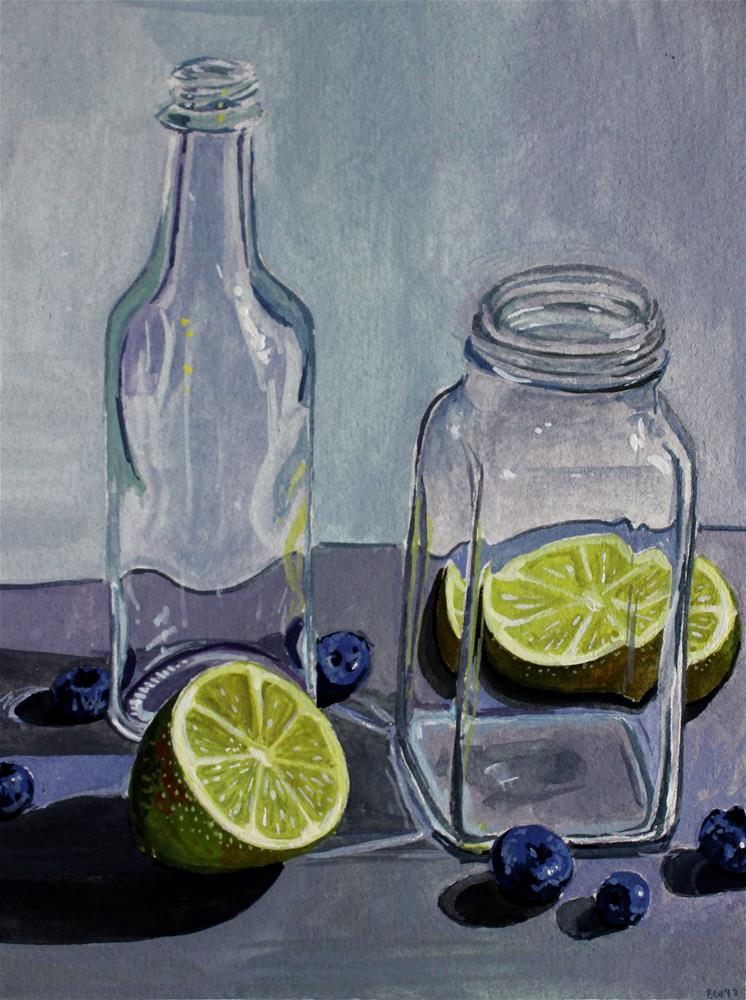 """""""Blueberries and Limes"""" original fine art by Brandy Woodford"""