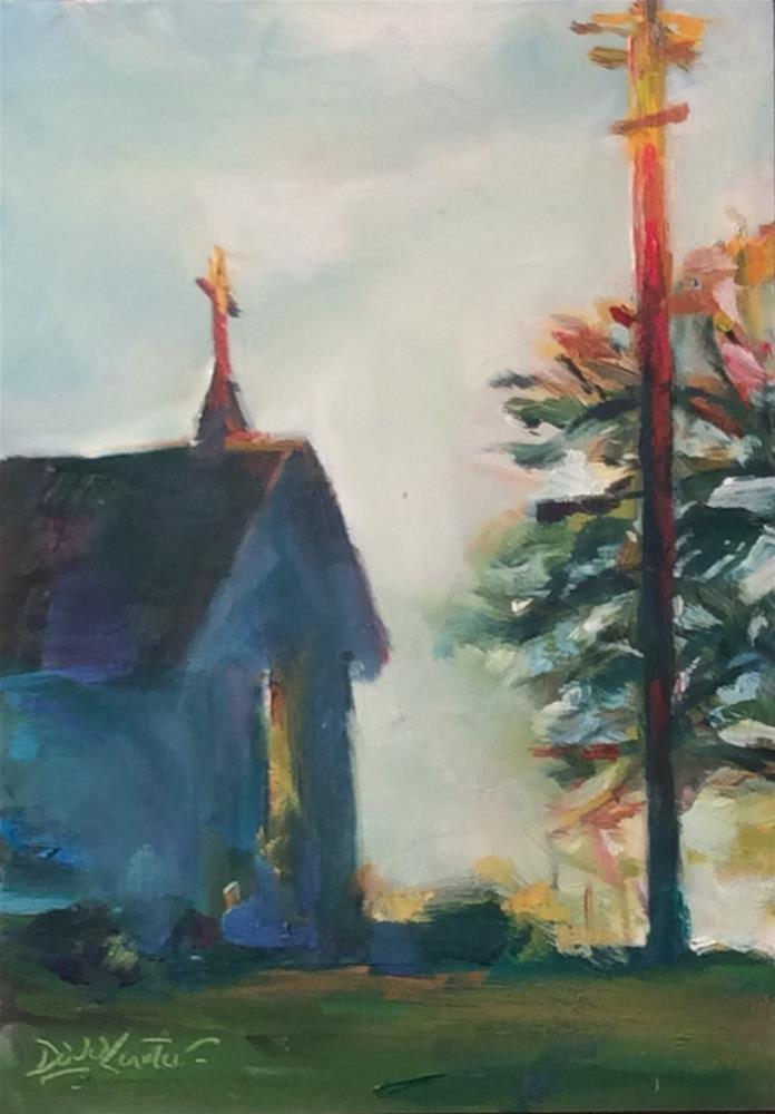 """ SPIRITUAL MOMENT "" original fine art by Doug Carter"
