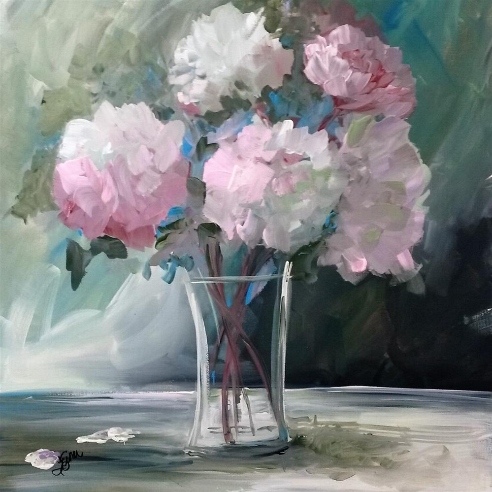 """Pink Peonies"" original fine art by Terri Einer"
