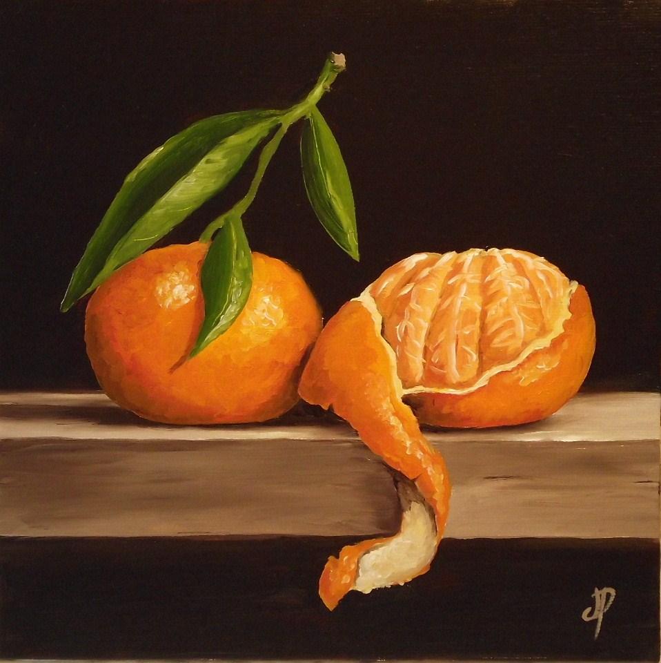 """""""Clementines"""" original fine art by Jane Palmer"""