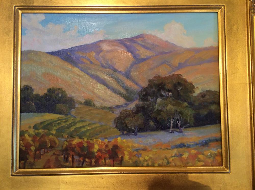 """""""Golden vineyards"""" original fine art by Leigh Alexandra Sparks"""