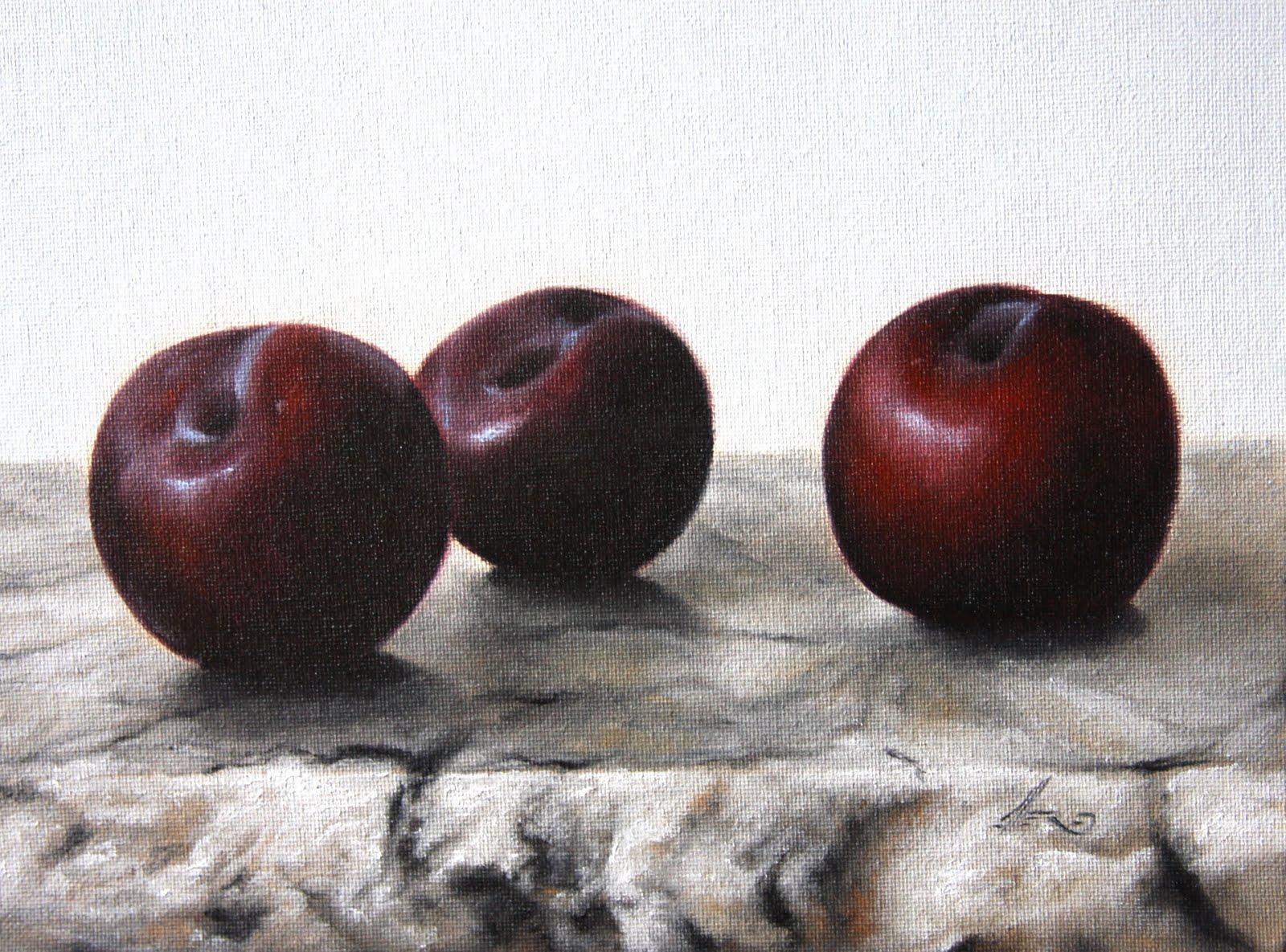 """""""Black Plums 2"""" original fine art by Jonathan Aller"""