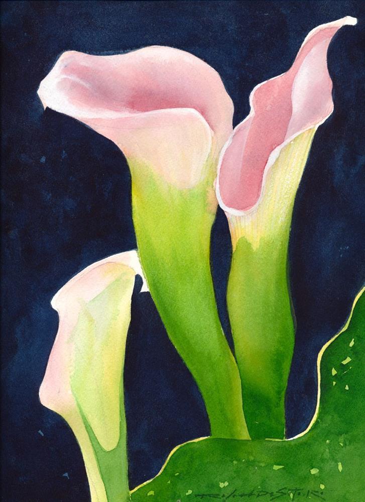 """""""Lilies"""" original fine art by Rafael DeSoto Jr."""