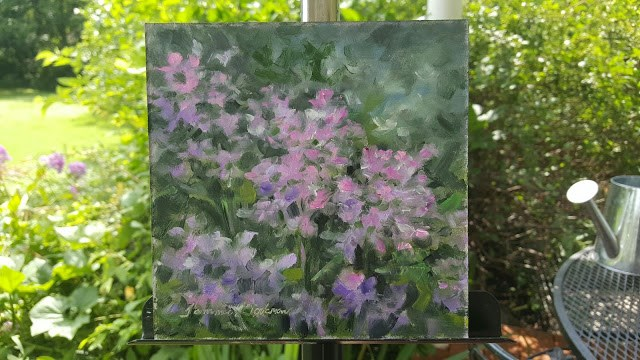 """Garden Phlox Illusion"" original fine art by Tammie Dickerson"