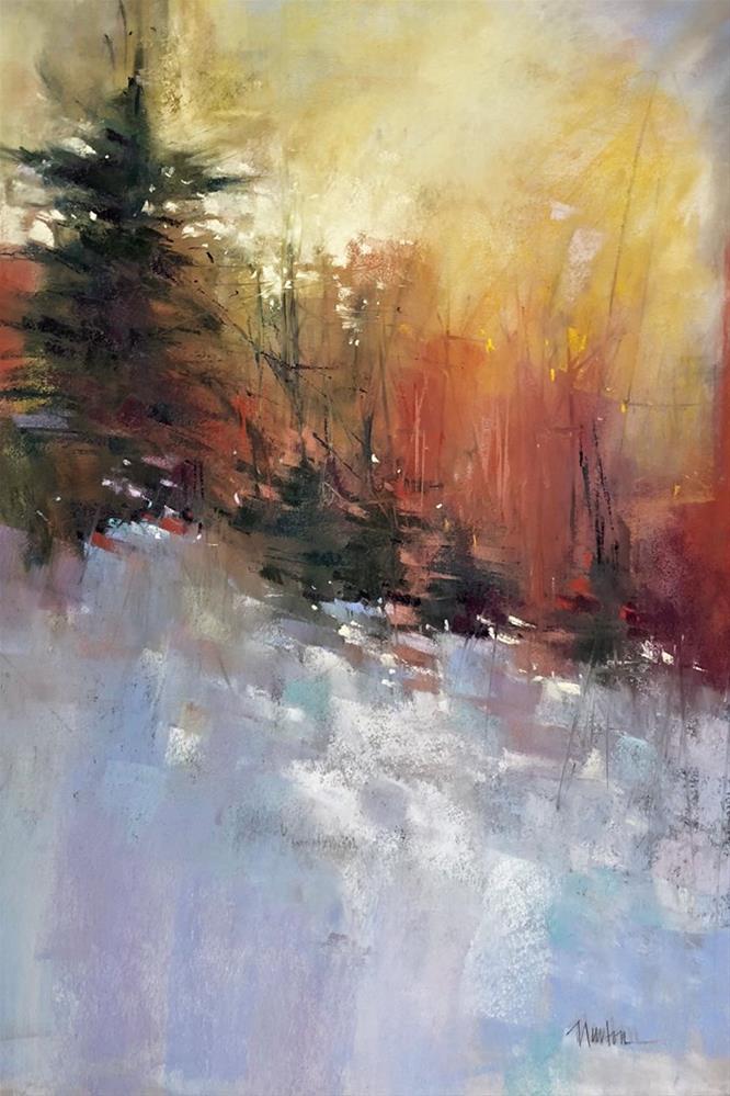 """""""Winter Dawn"""" original fine art by Barbara Benedetti Newton"""