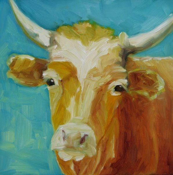"""Lone Horn II"" original fine art by Mb Warner"