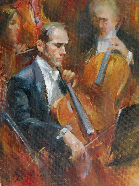 """Sixth Symphony"" original fine art by Kelvin Lei"