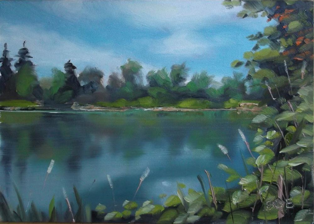 """Beside the Lake"" original fine art by Karen Boe"