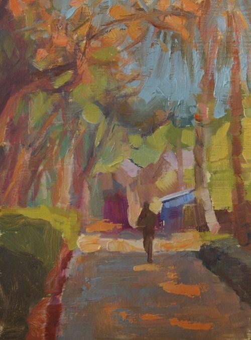 """Peaceful Stroll"" original fine art by Bruce Bingham"