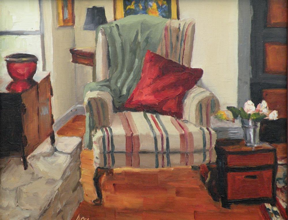 """Cozy Corner"" original fine art by Alice O'Leary"
